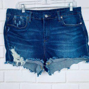 Blank NYC the essex cut off denim shorts size 32
